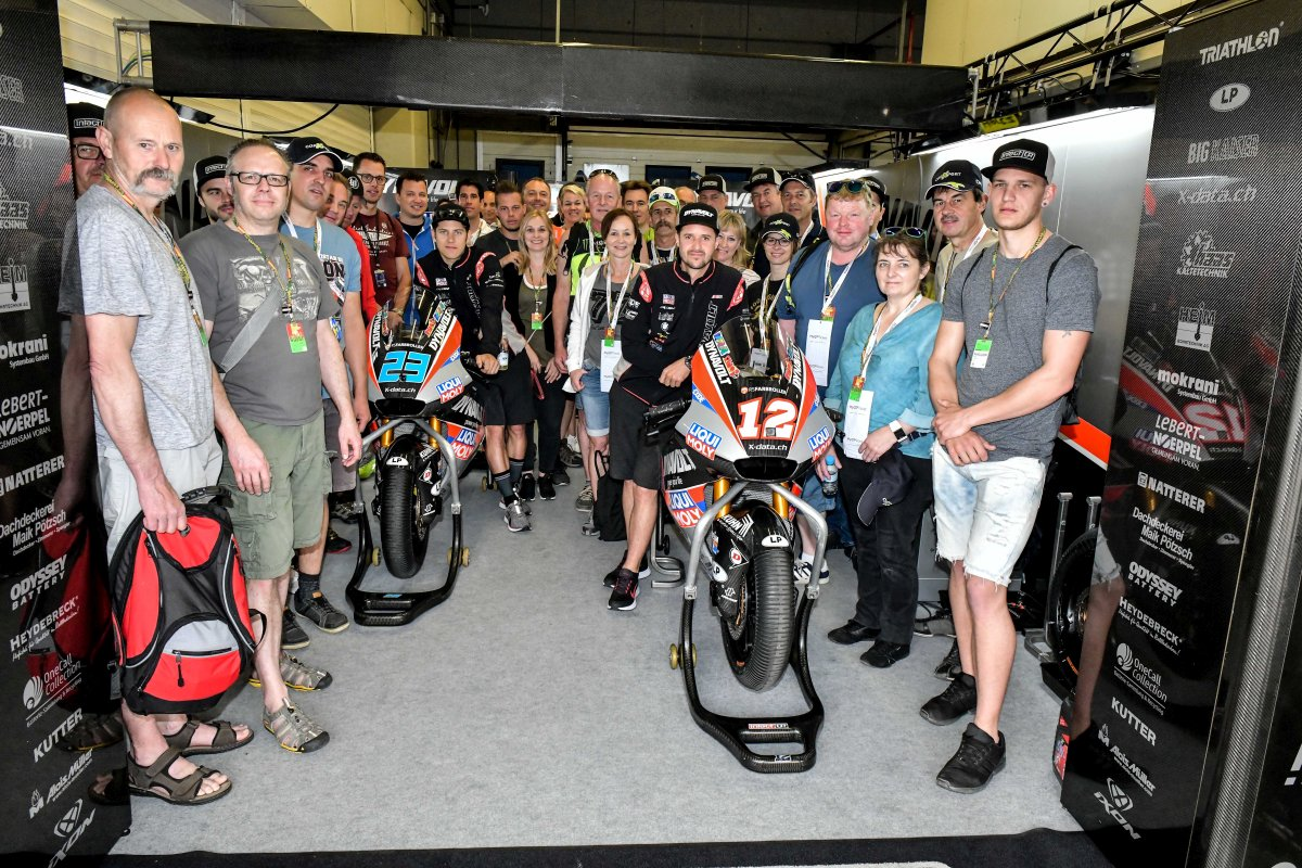 Group photo in the garage