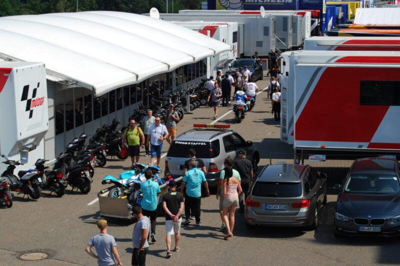 Fahrerlager am Sachsenring