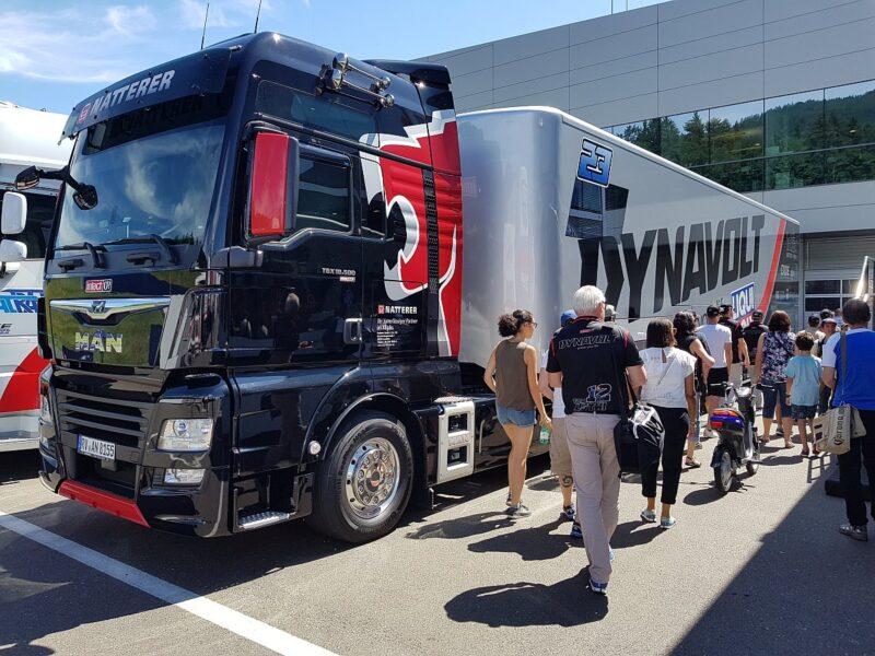 Lastwagen vom Team Intact GP