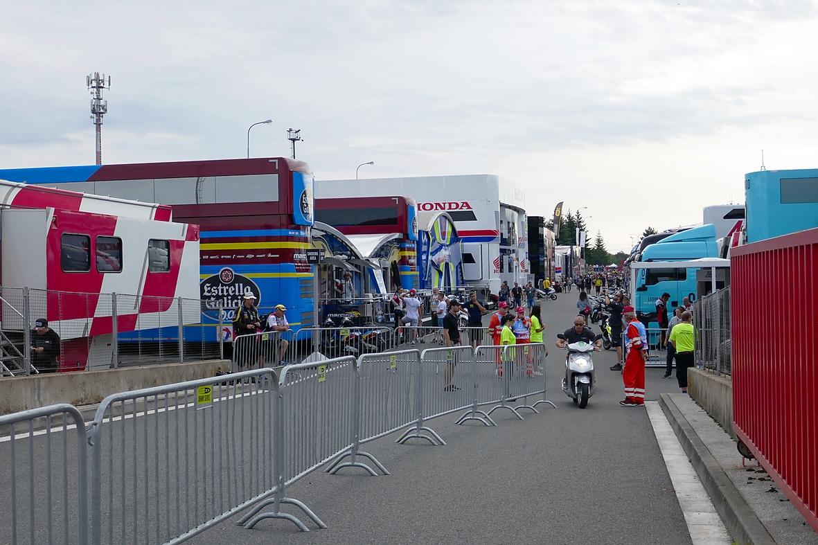 Fahrerlager in Brno