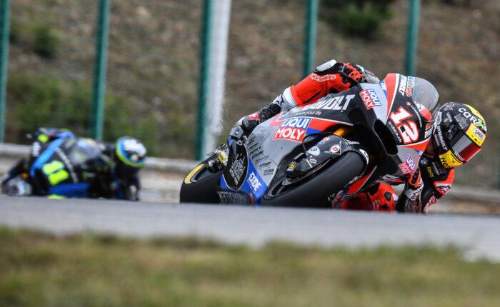Moto2 Motorrad in Kurve