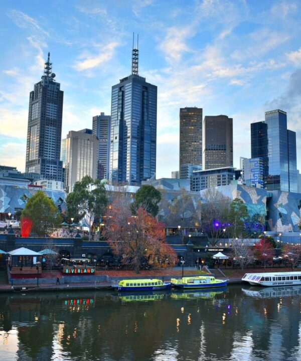 Skyline von Melbourne in Australien