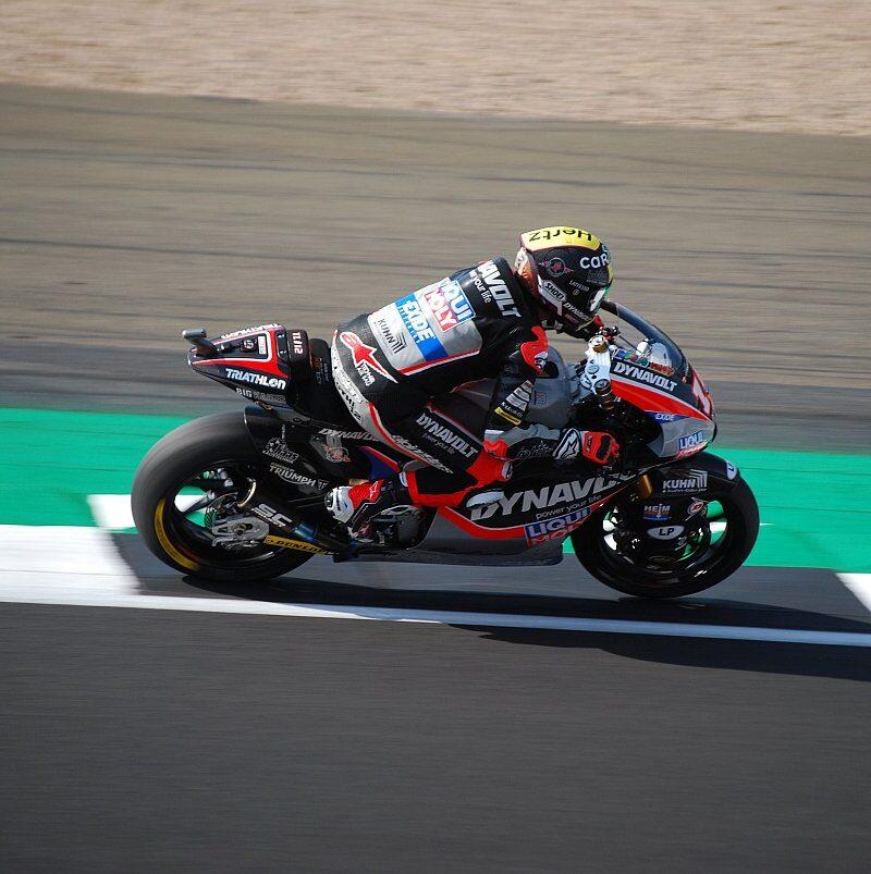 Moto2 Motorrad von Tom Lüthi