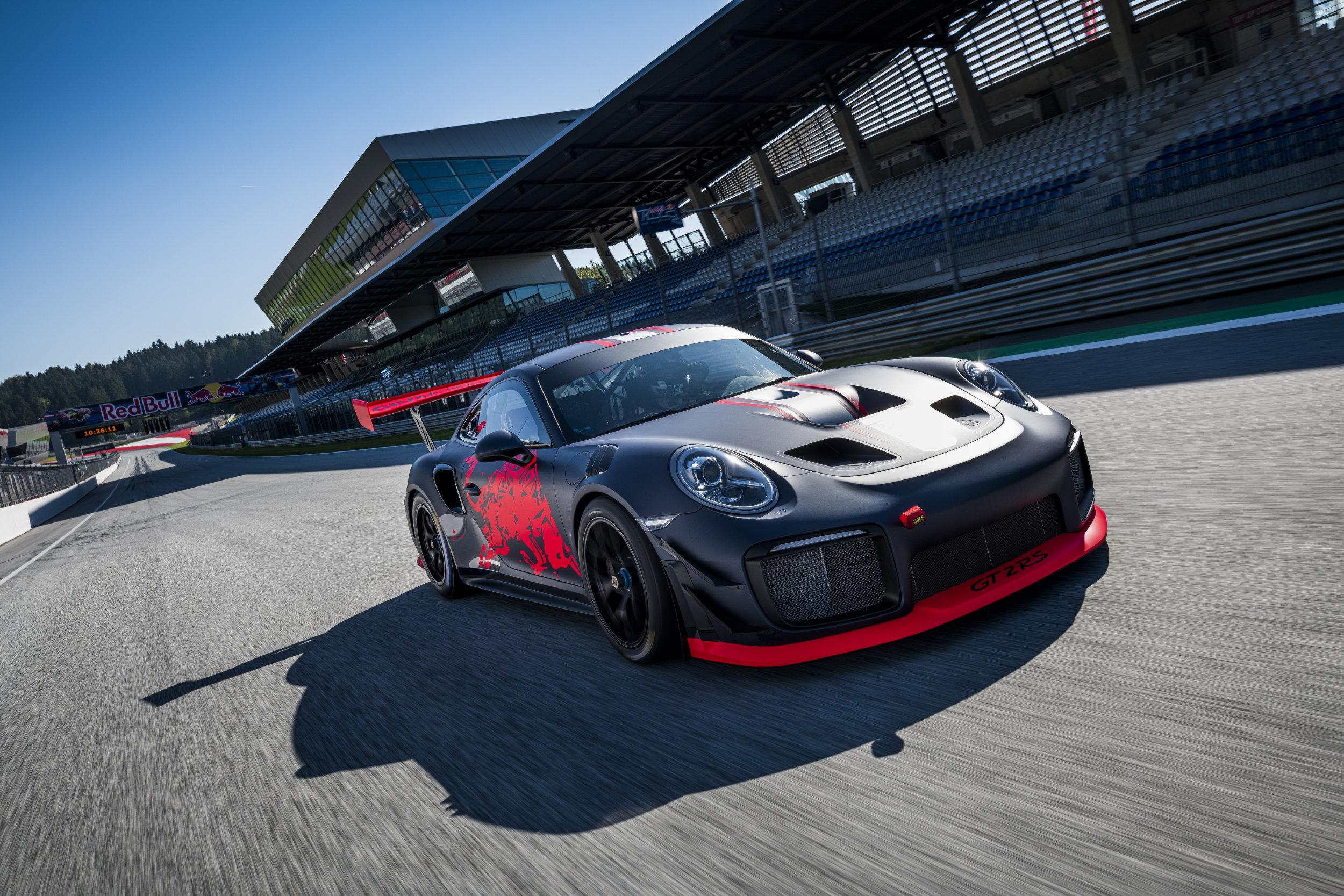 Porsche auf Rennstrecke