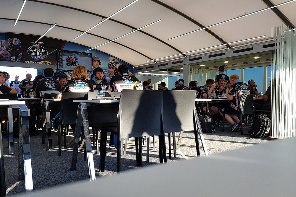 Hospitality vom Marc VDS Racing Team